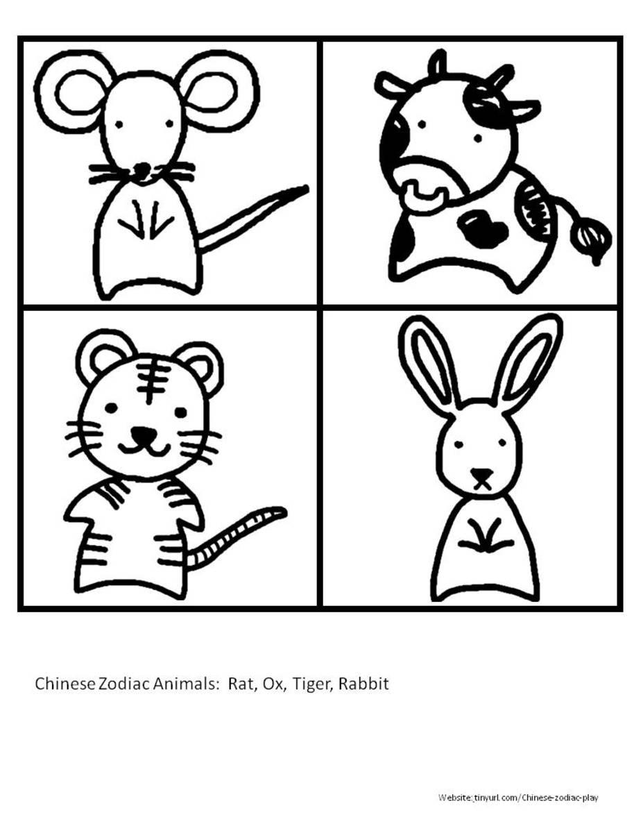 Animal Drawings Sheet 1 See portrait link below.