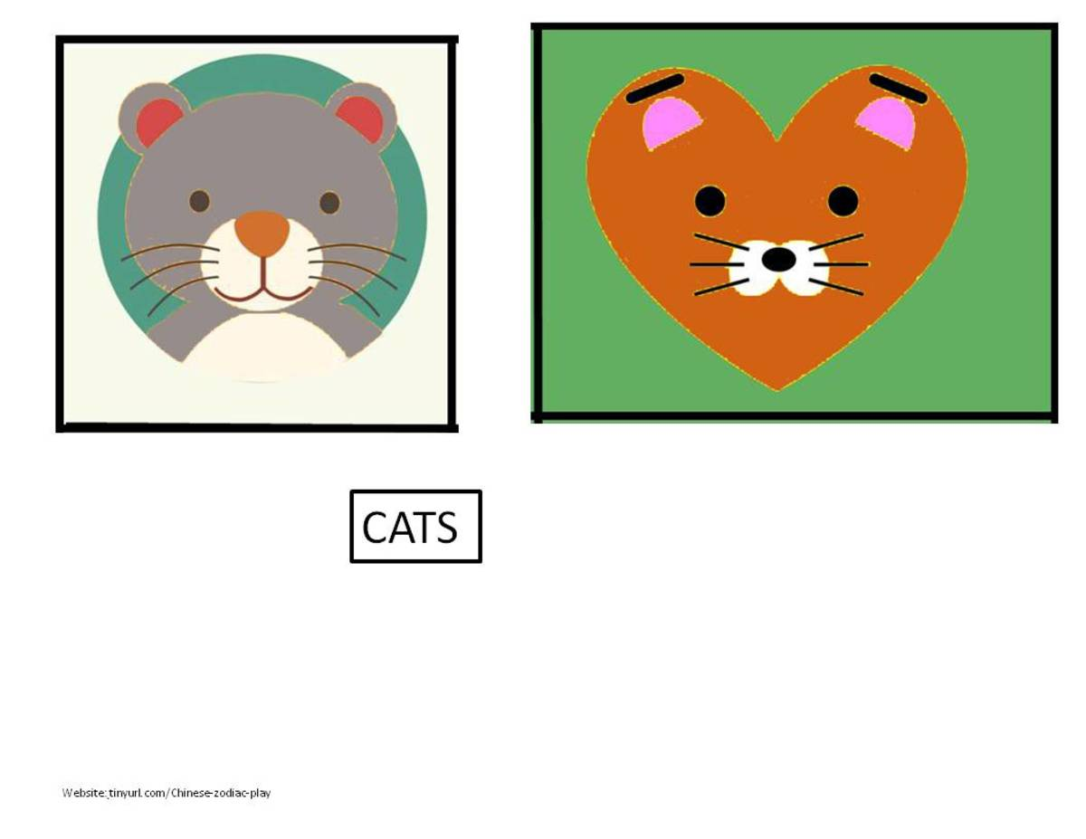 Cats to accompany the two previous sets of cards.   See  landscape link below.