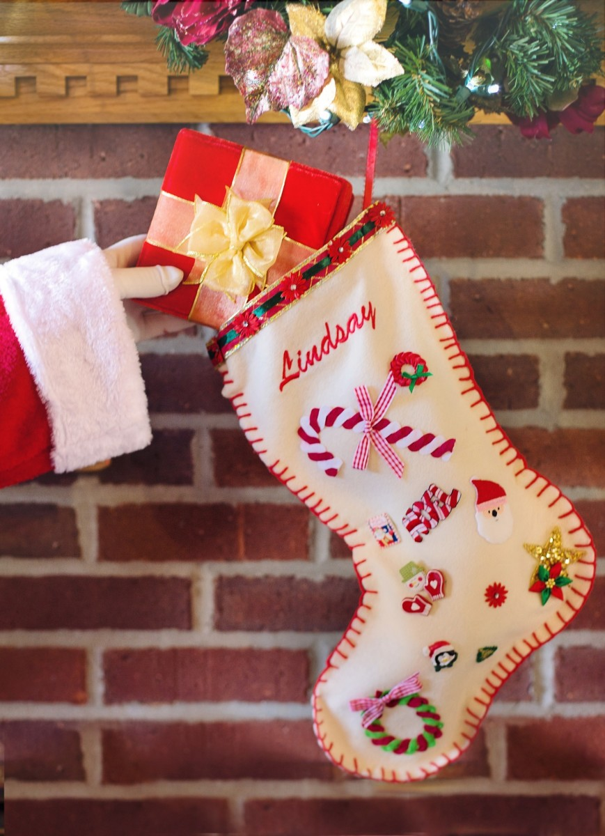 You can wrap the items in the stocking to make them seem more special or just put them in without wrapping.