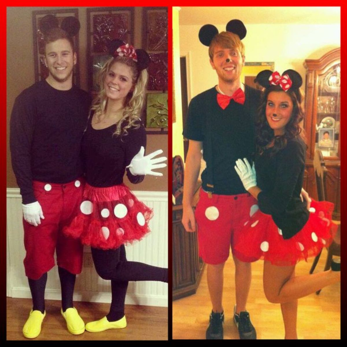 Mickey and Minnie Mouse have been great costume ideas for years now and they still do not disappoint.  Such a cute couple's costume idea!