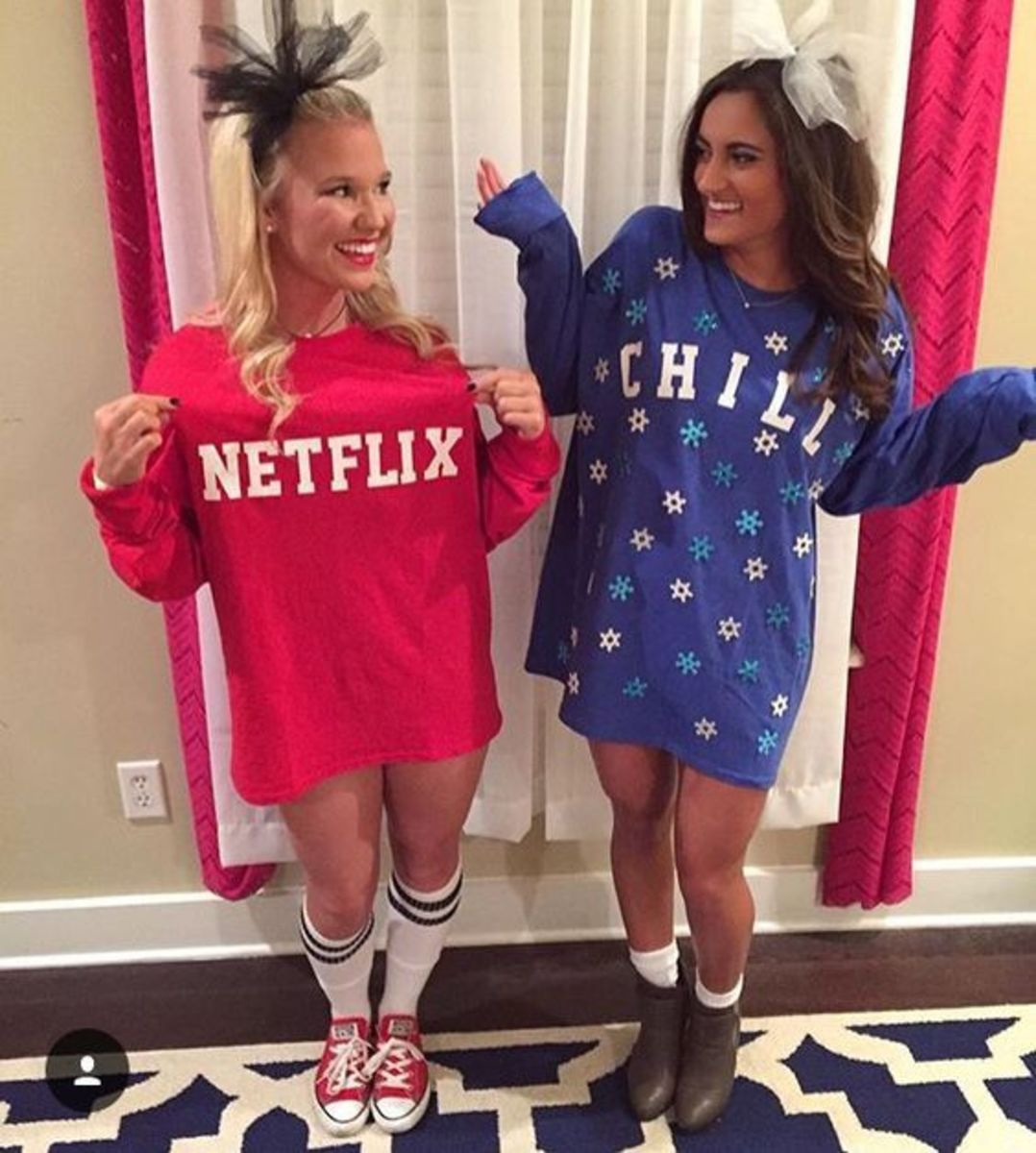 Netflix and Chill has been a commonly used term in the millennial era. This is another easy homemade costume that will also be a hit at a Halloween party!