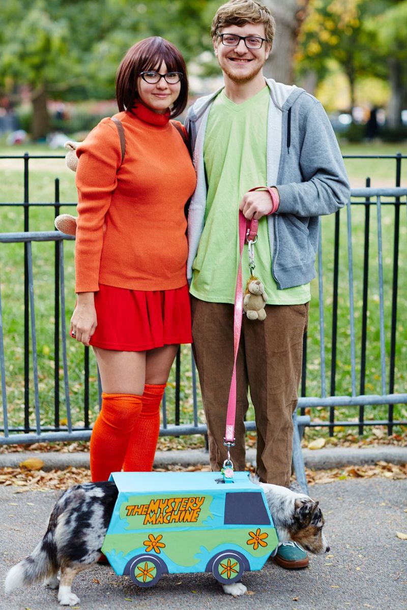 "Shaggy and Velma from ""Scooby-Doo"" is another great costume idea for Halloween.  You may already have some of these clothing items in your closet to put together! It is simple and still creative!"