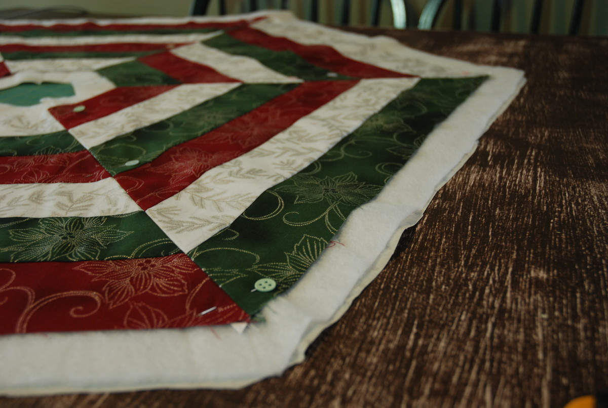 Pinning your quilt together
