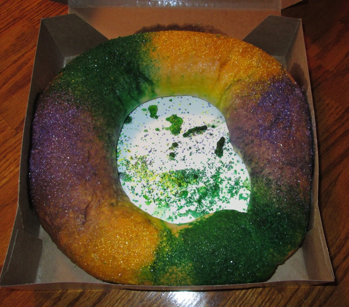 The King Cake is really a fairly simple, sweet treat.