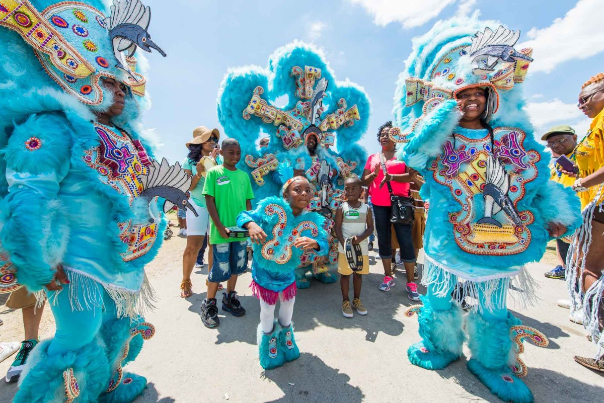 The appearance of the Mardi Gras Indians are just one of many things that happen on Mardi Gras Day
