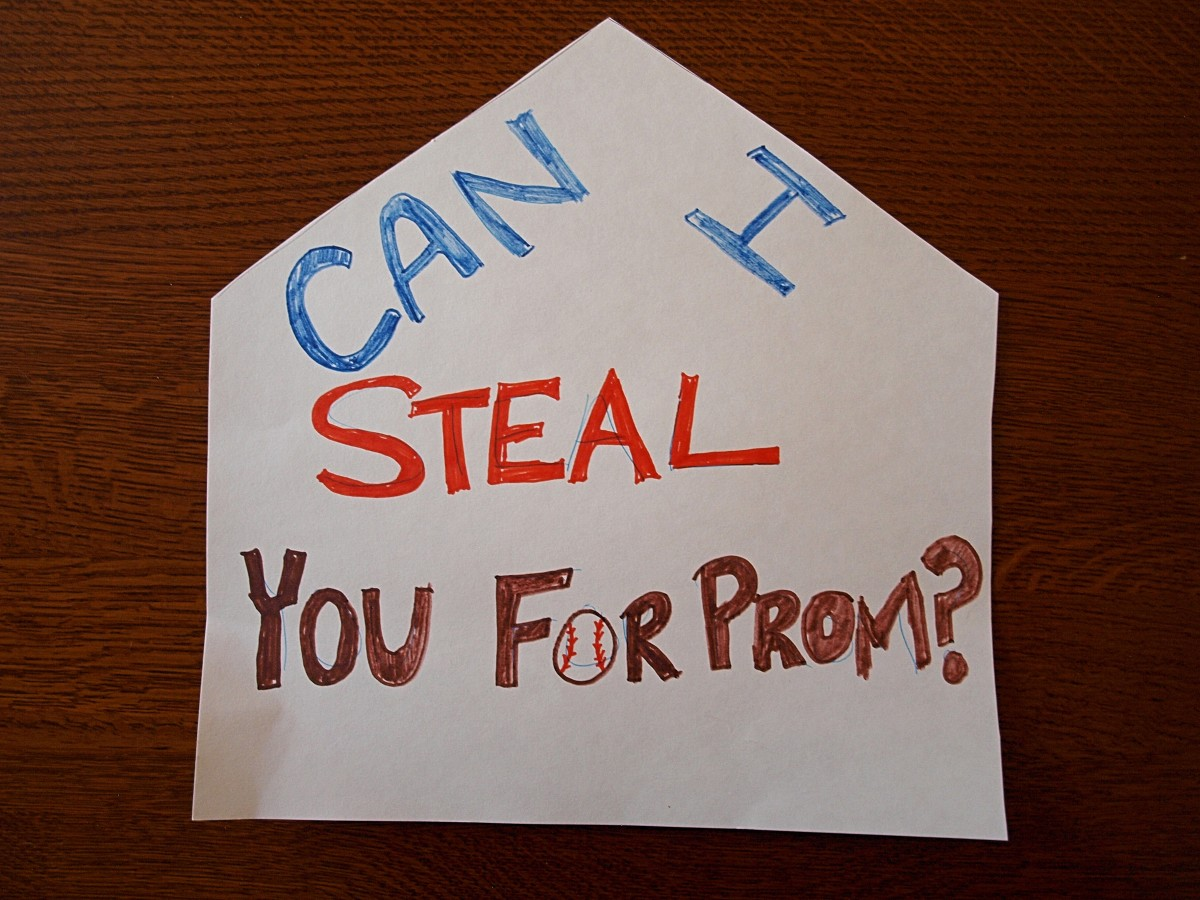 Baseball fans would love a promposal sign like this one.