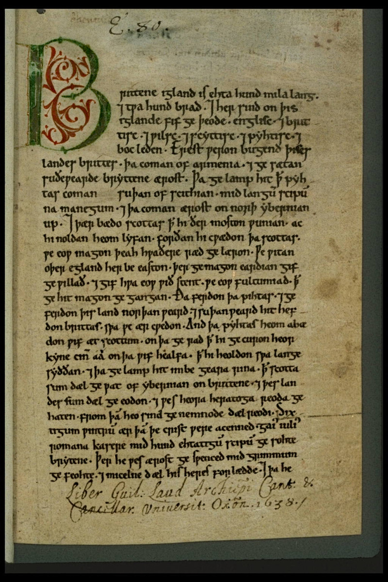 Peterborough Chronicle, a manuscript from the Anglo-Saxon Chronicle