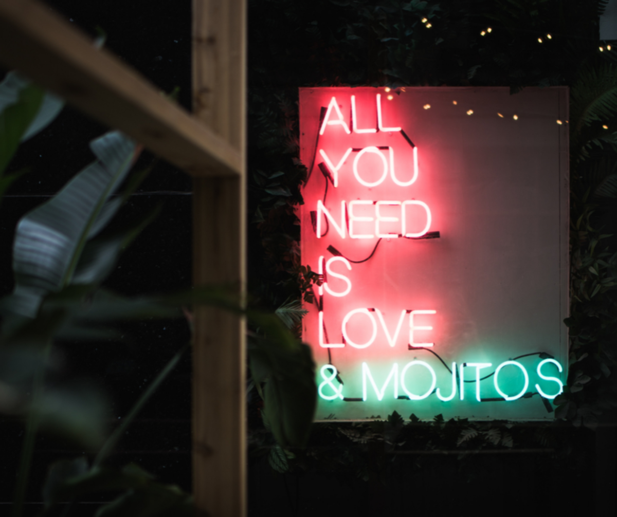 All you need is love . . . and the occasional beverage.