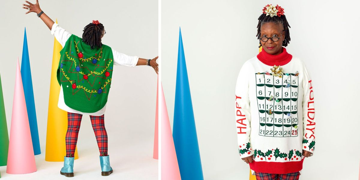 Whoopi Goldberg's Ugly Sweaters at Zappos.