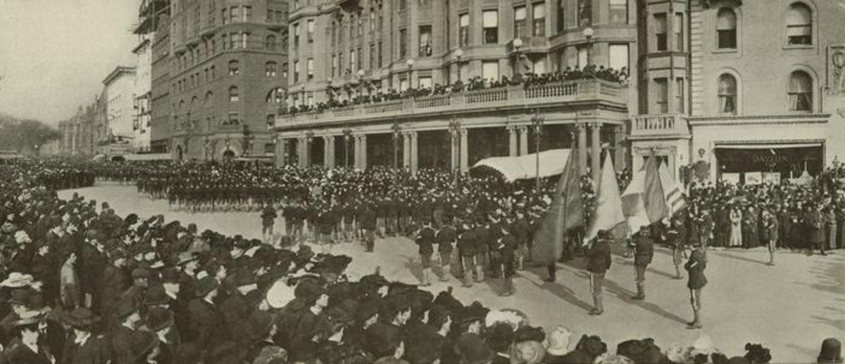 1904 New York City Saint Patrick's Day Parade.