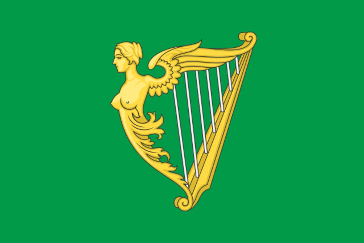 Flag of the Society of United Irishmen.