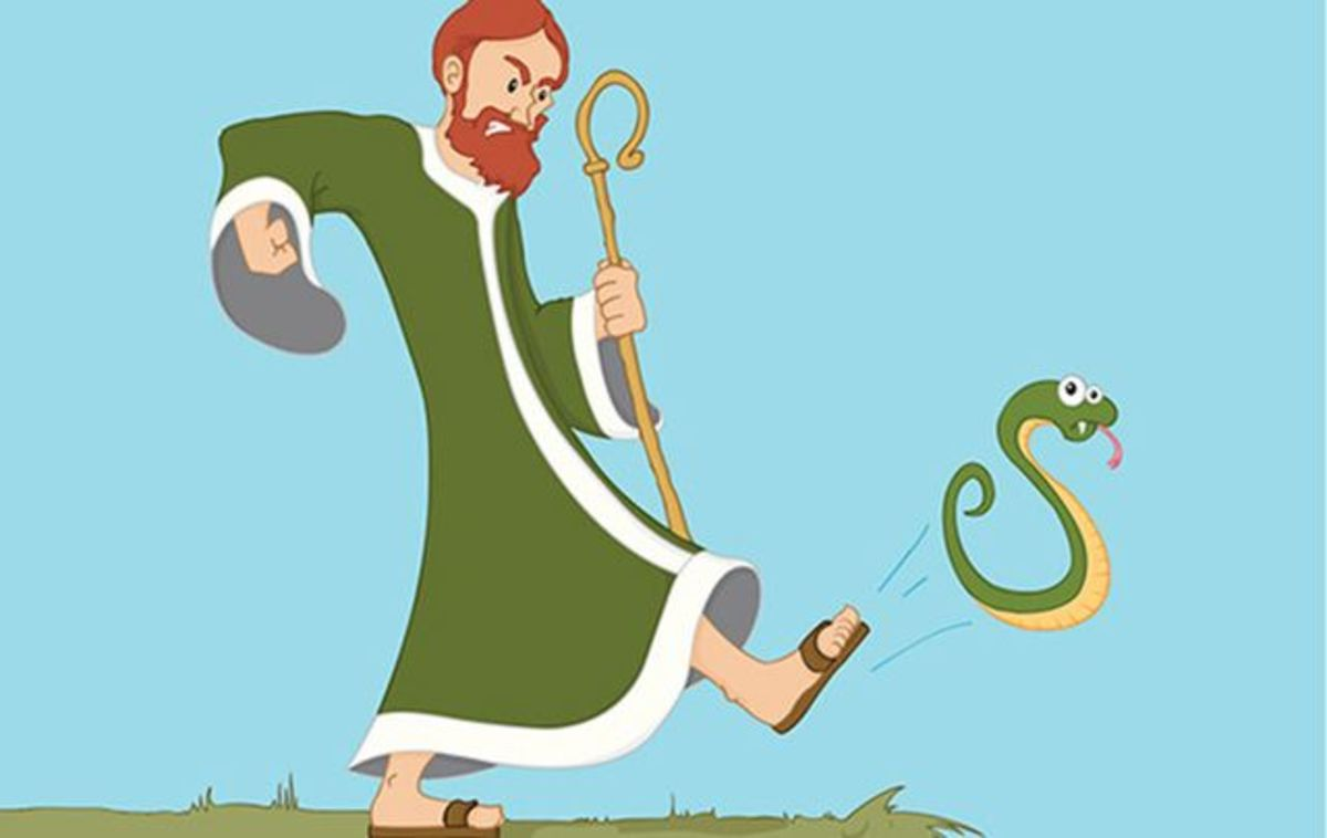 Did Saint Patrick really chase the snakes into the sea?