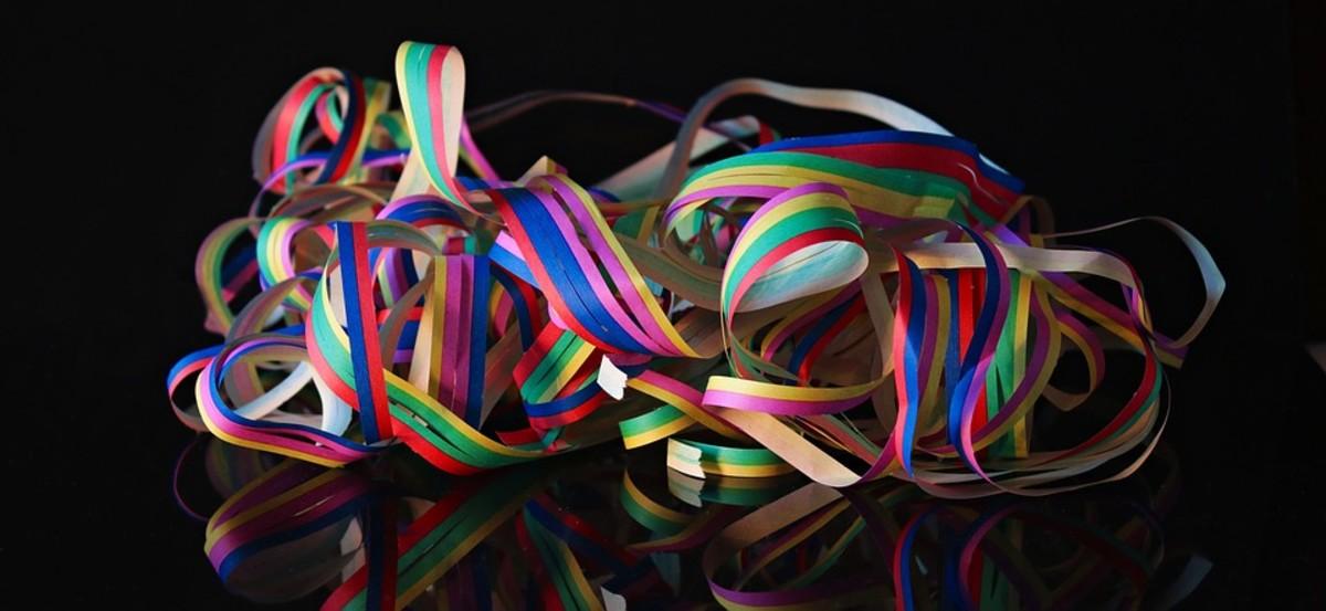 Ribbons make everything festive.