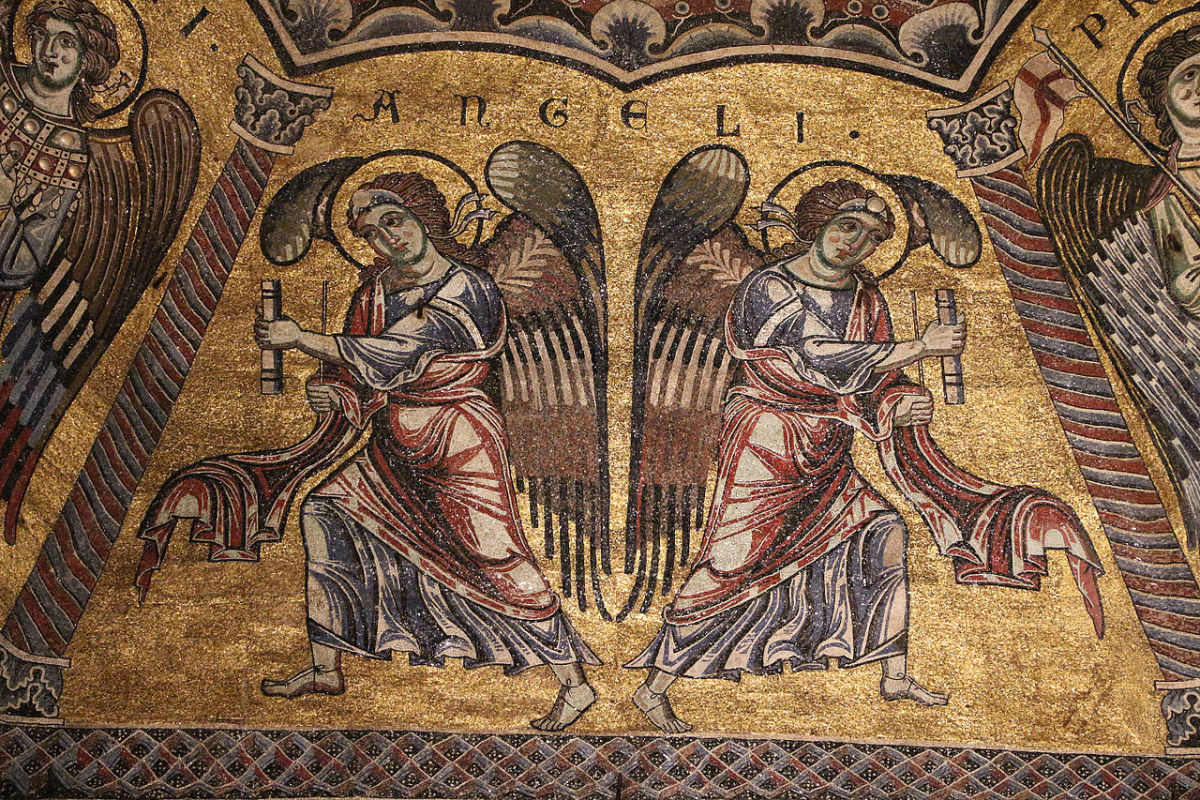 Angelic hierarchy in the Florence Baptistry