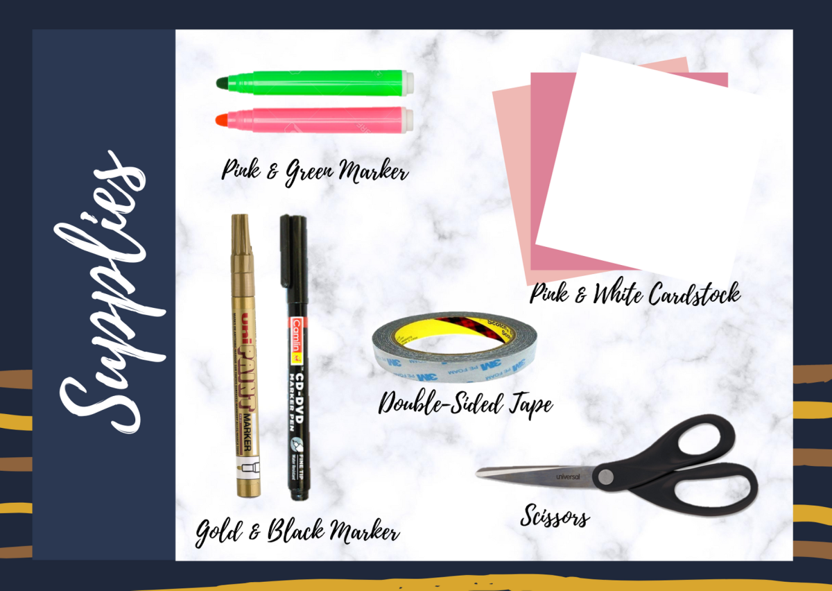 Supplies Needed for Hagrid's Happee Birthdae Greeting Card