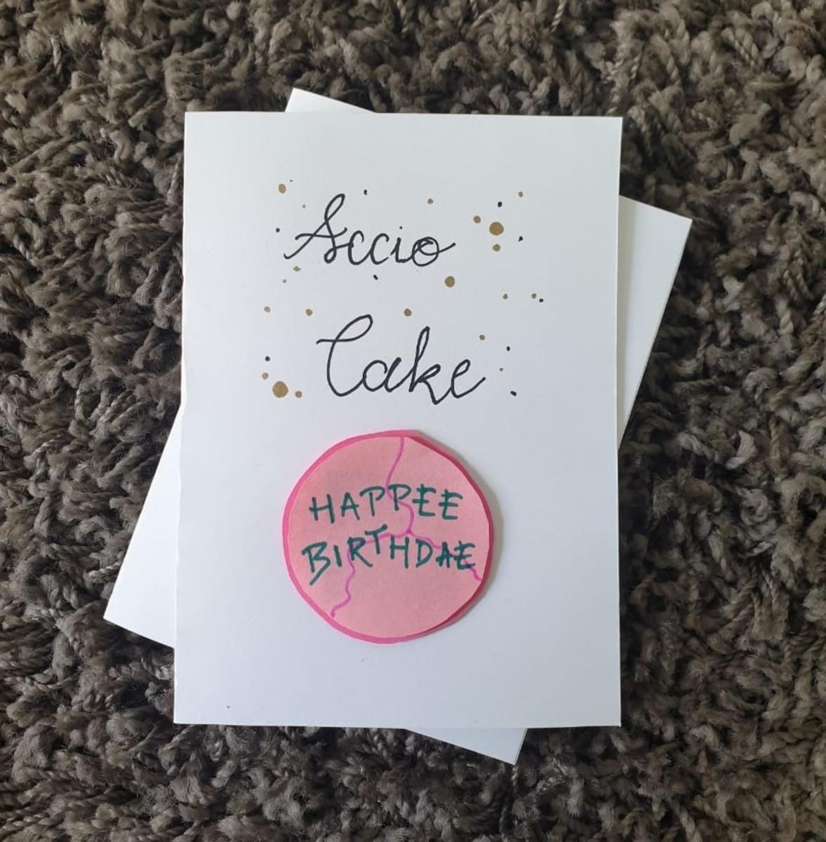 Hagrid's Happee Birthdae Greeting Card