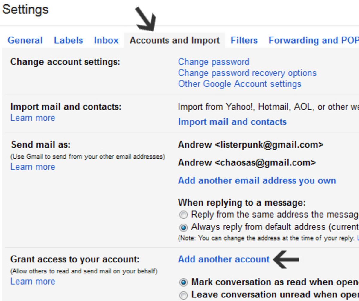 Granting delegate access in Gmail.
