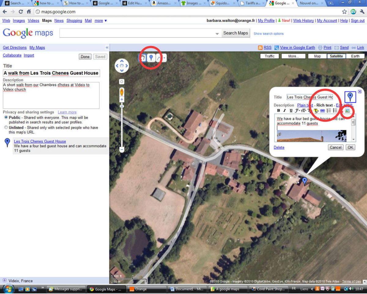 how to add mark in google map