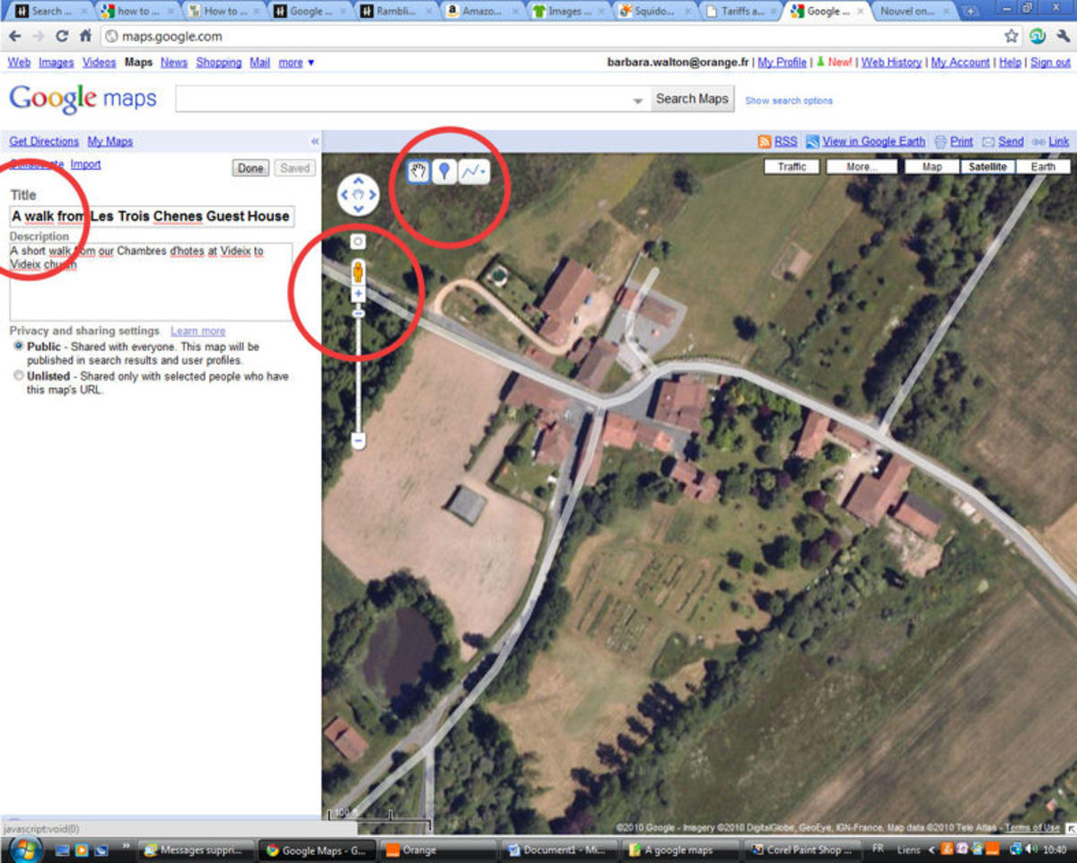 How To Mark A Route On Google Maps And Save Personalized Maps - Google map satellite zoom