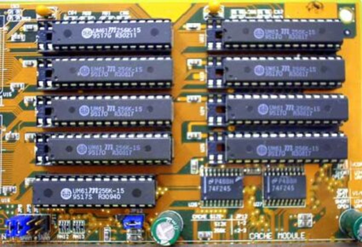 L2 cache on an old motherboard.