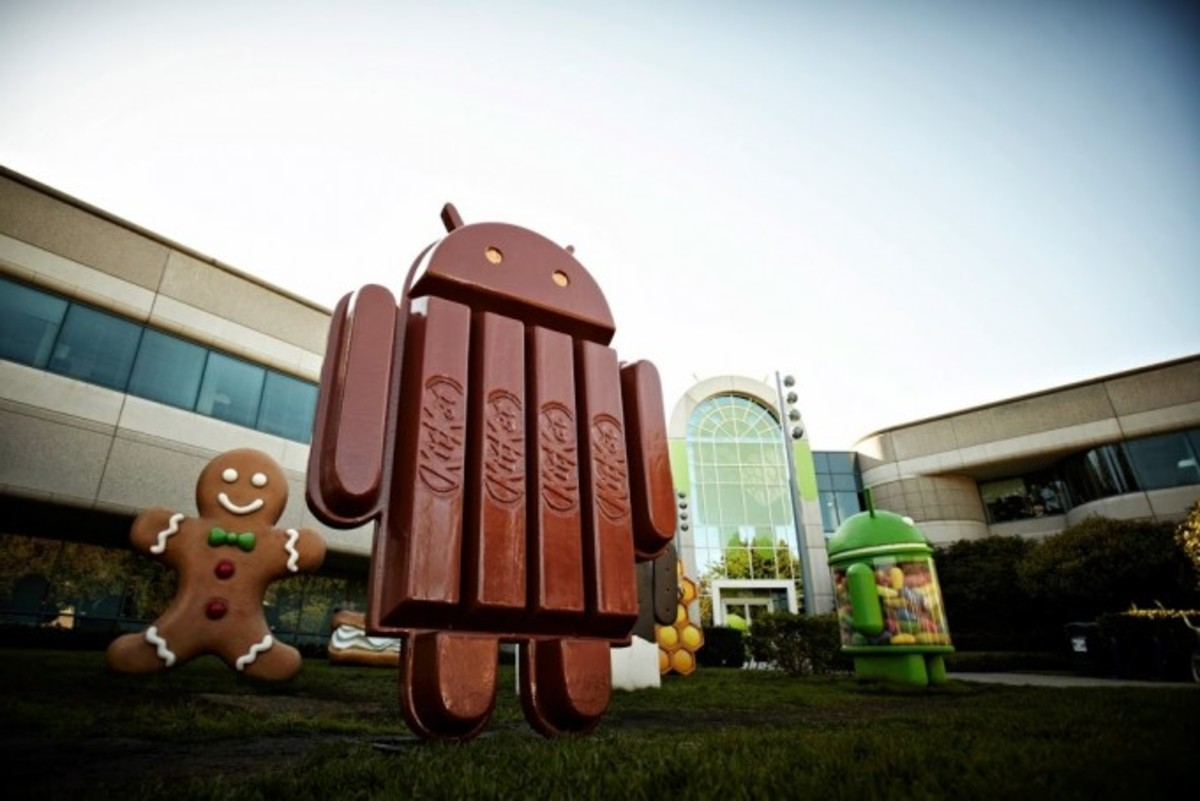 The Android 4.4 KitKat mascot on Google Campus