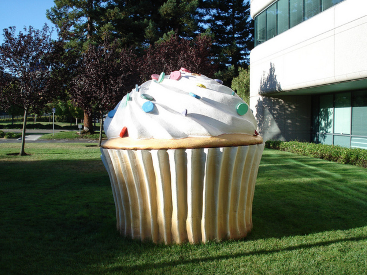 The Android cupcake on Google's campus