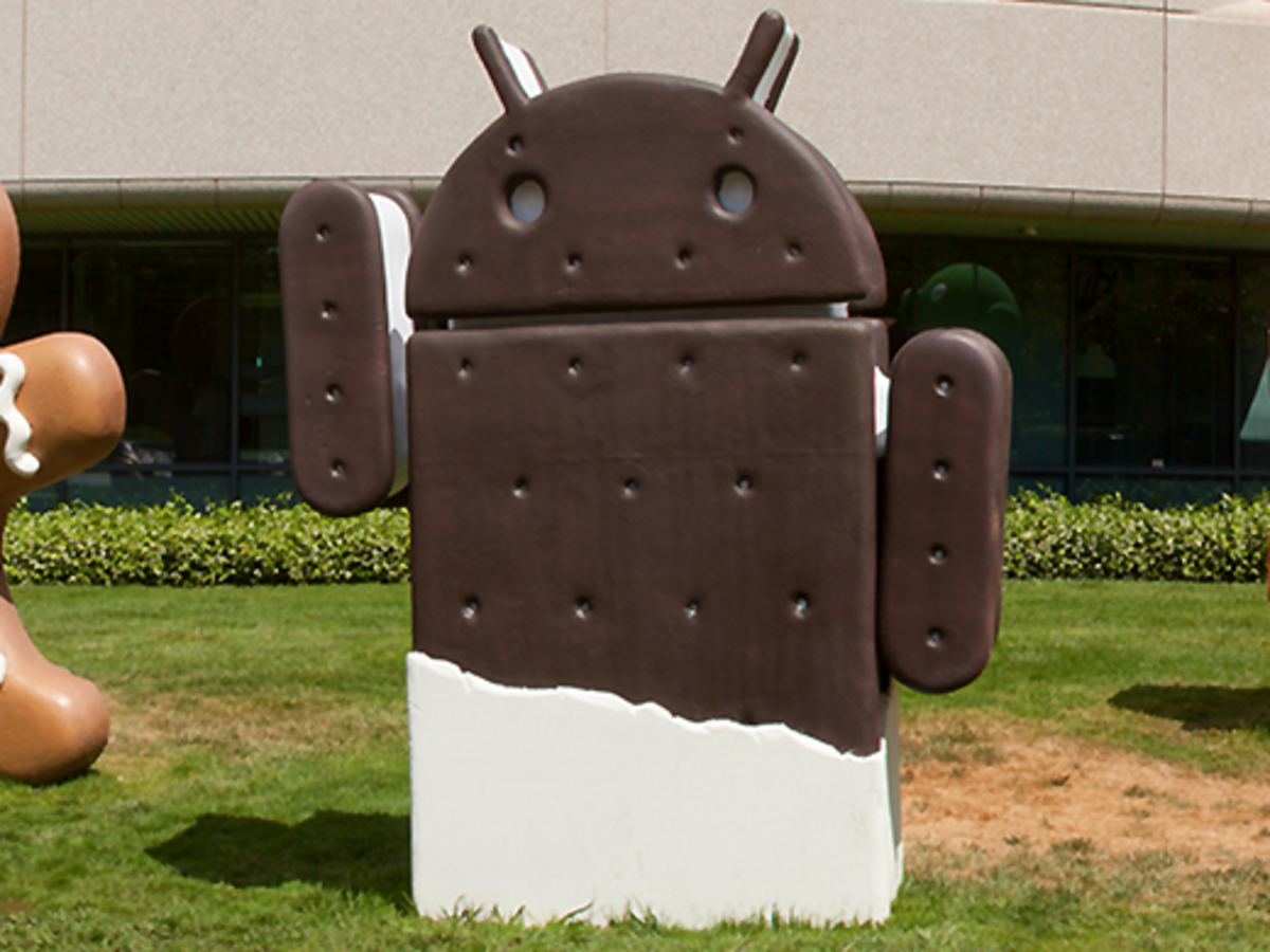 The Android ice cream sandwich on Google's campus