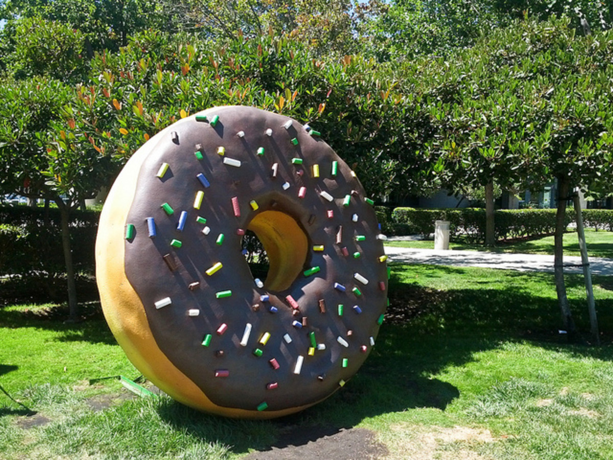 The Android donut on Google's campus