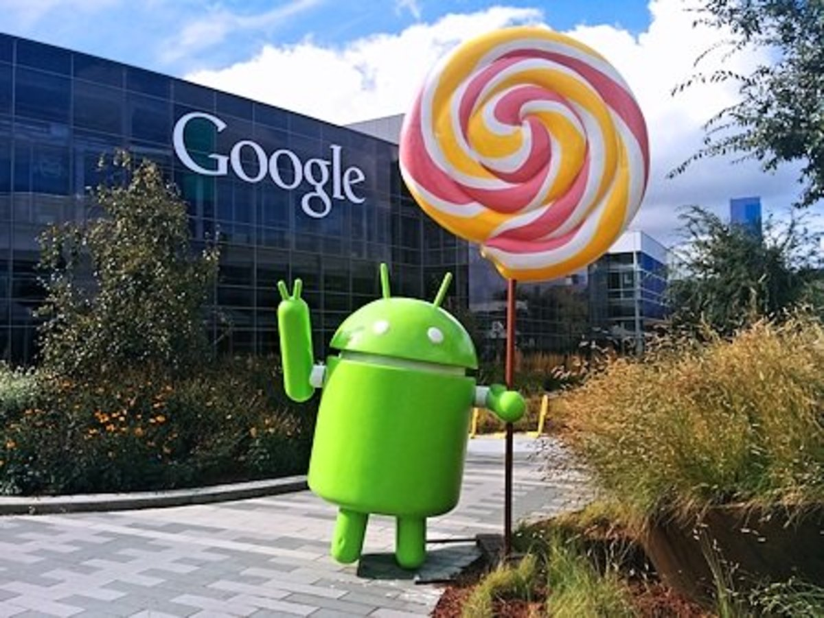 The Android lollipop on Google's campus
