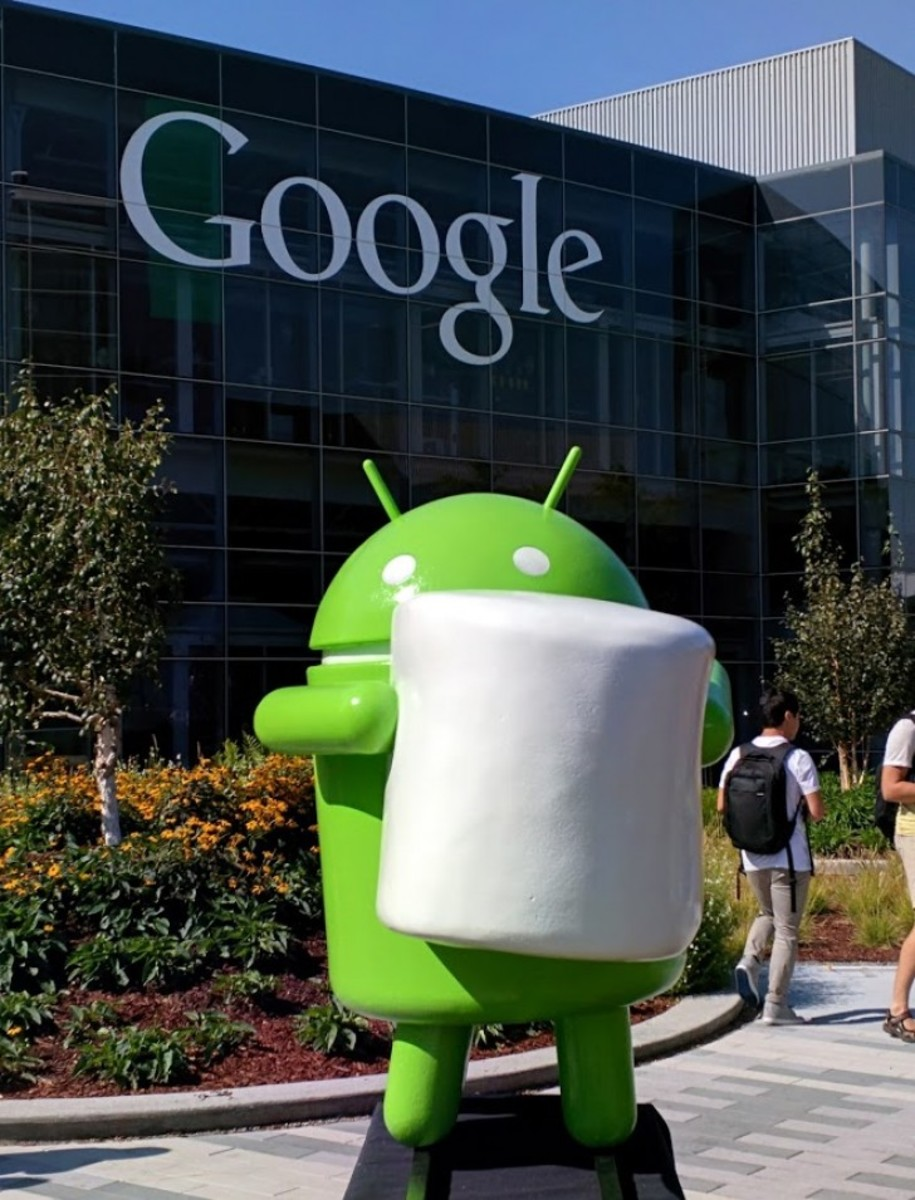 Android 6: Marshmallow mascot on Google Campus