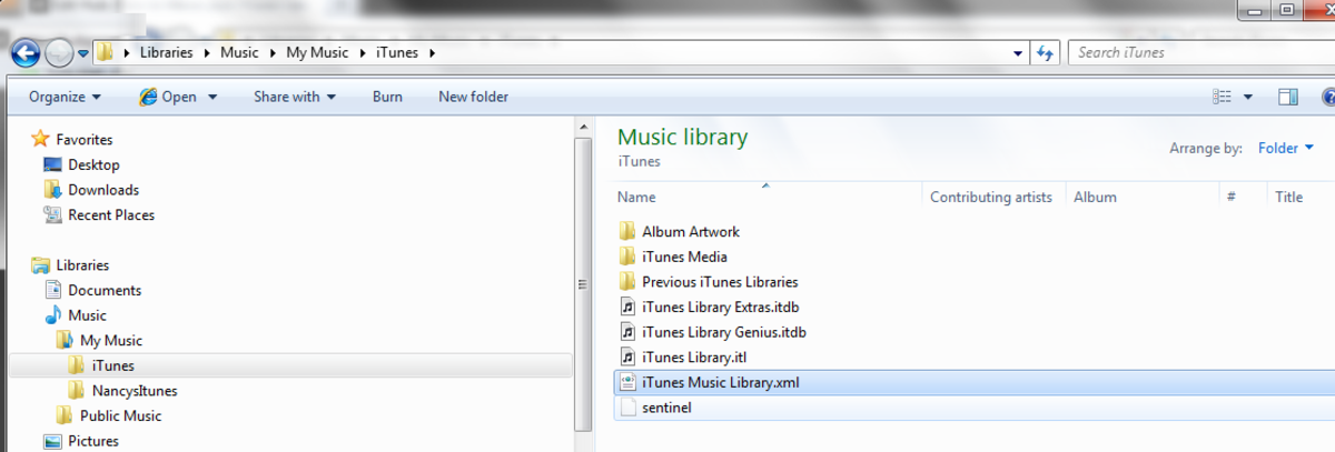 "Edit the file ""iTunes Music Library.xml"" (Click to enlarge)"