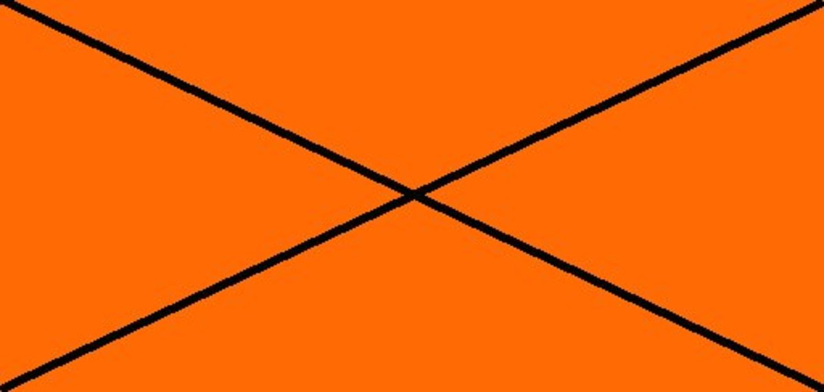 RED-ORANGE 100% (R) : 42% (G) : 0% (B)    Any colour which is deemed very clearly not to be a true red, but which is included to illustrate a point, will be crossed through as in these two tones