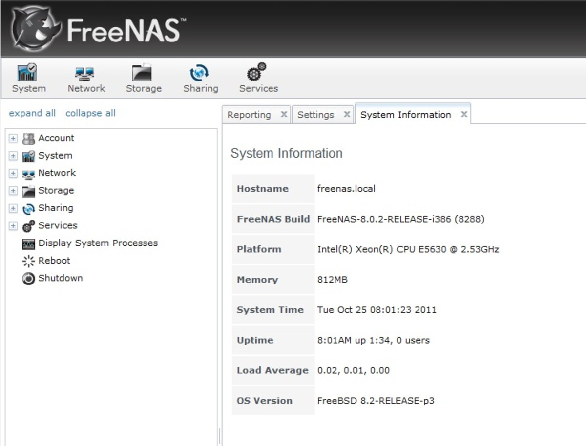If the update was a success the FreeNAS Build version should be updated on the system information page.