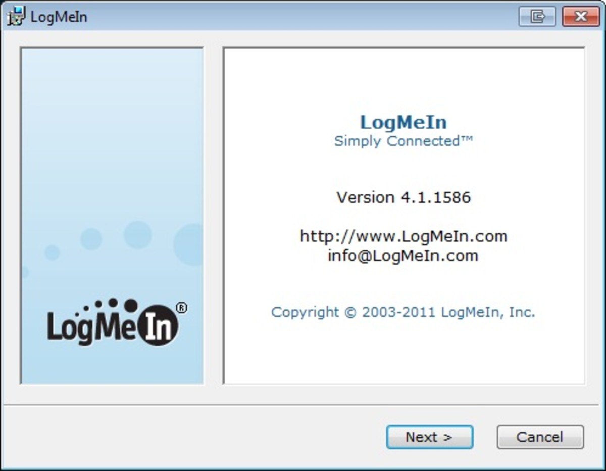 LogMeIn remote access software