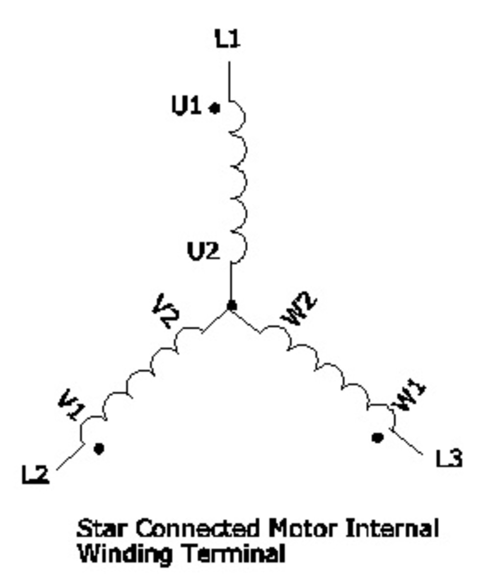 Star Connected Motor Internal Winding Terminal