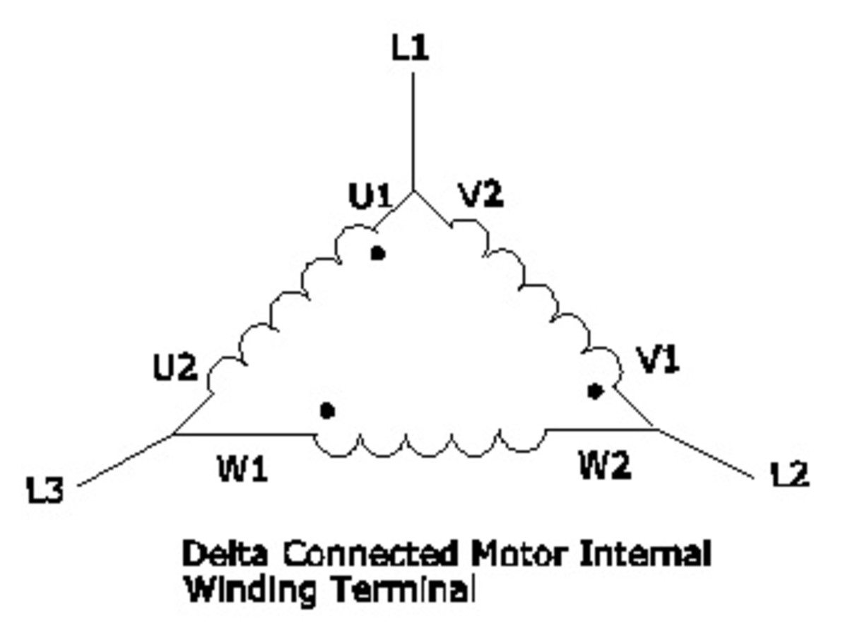 Delta Connected Motor Internal Winding Terminal