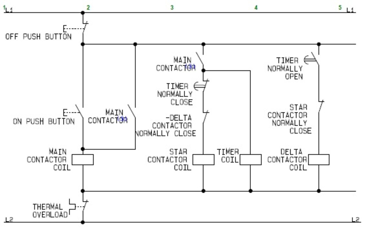 using star delta motor control (with circuit diagrams) turbofuture Yaskawa Wiring Diagram