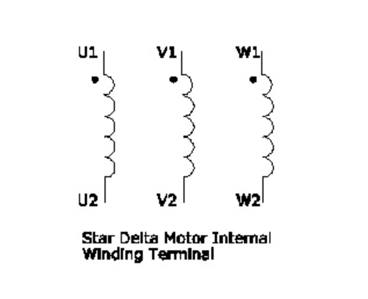 Star Delta Motor Internal Winding Terminal