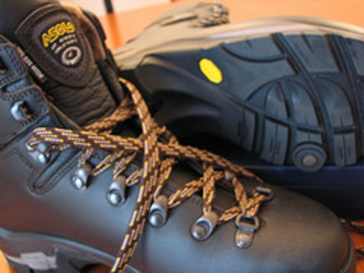Sturdy Asolo hiking boots