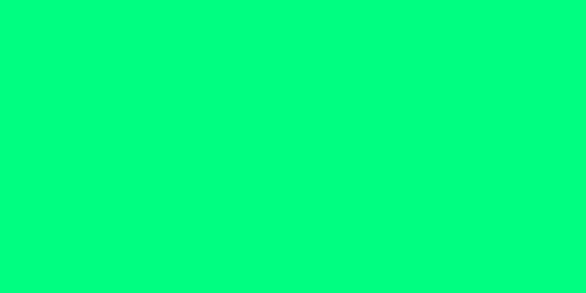 SPRING GREEN 0% (R) : 100% (G) : 50% (B)