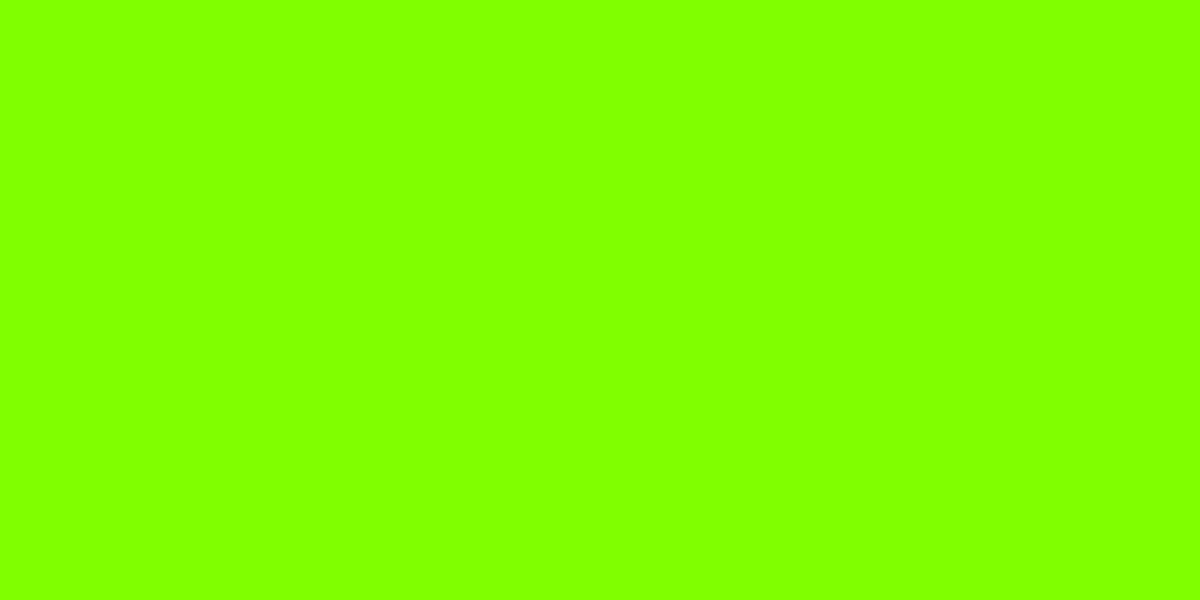 CHARTREUSE also known as LAWN GREEN 50% (R) : 100% (G) : 0% (B)