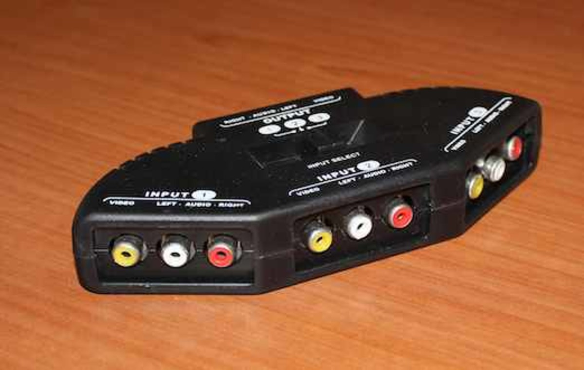 An example of a composite a/v switcher