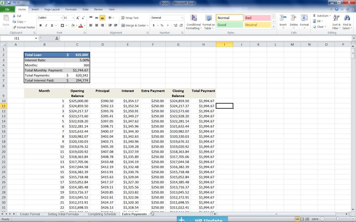 additional principal payment calculator mortgage