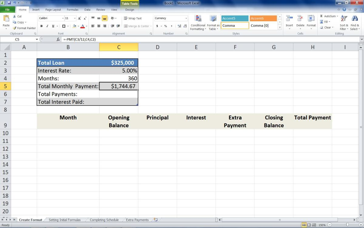 Mortgage Loan Calculator Using Excel | Turbofuture