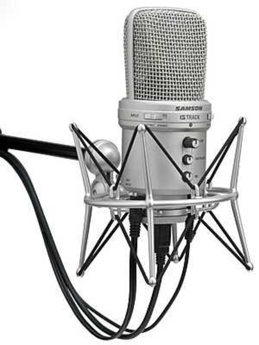 USB Condenser Microphone (Samson; one of many brands and  varieties)