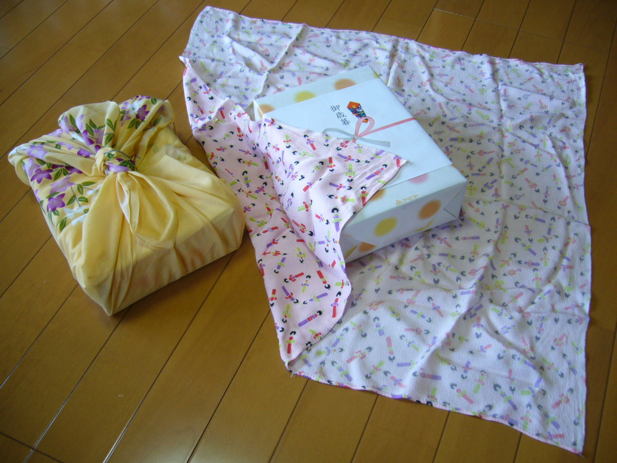 Furoshiki is a traditional way of wrapping gifts in Japan using natural fabric.
