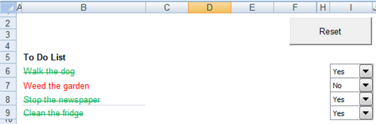 Using a command button to add Visual Basic code to a button which activates when pressed in Excel 2007 or Excel 2010.