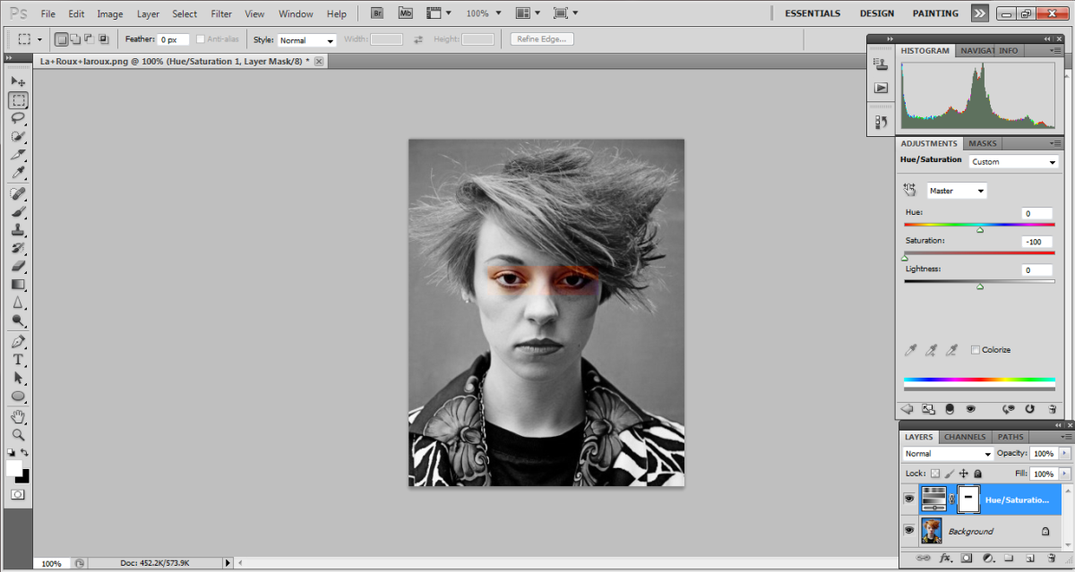 photoshop how to turn a photo black and white