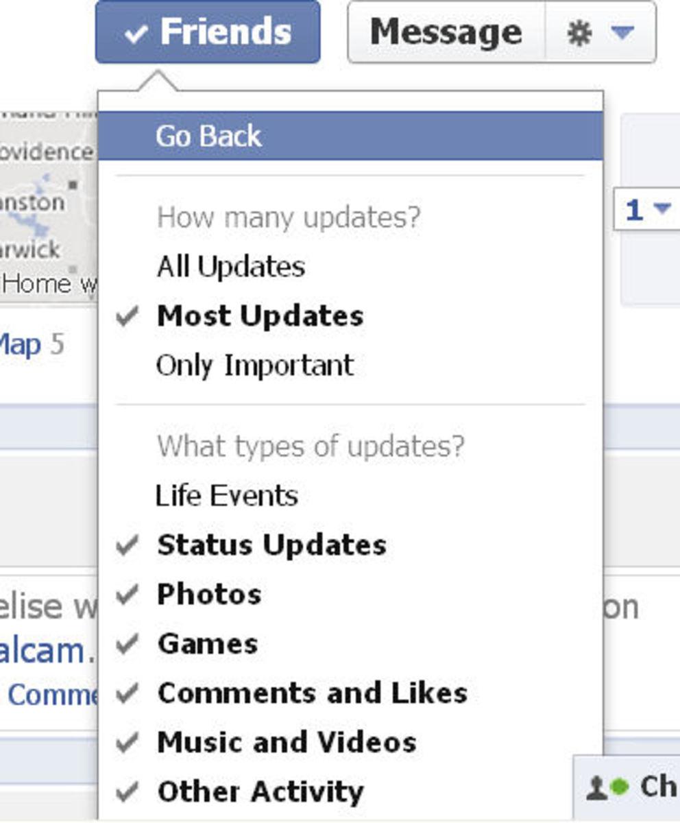 Hide or tweak different types of Facebook Activities