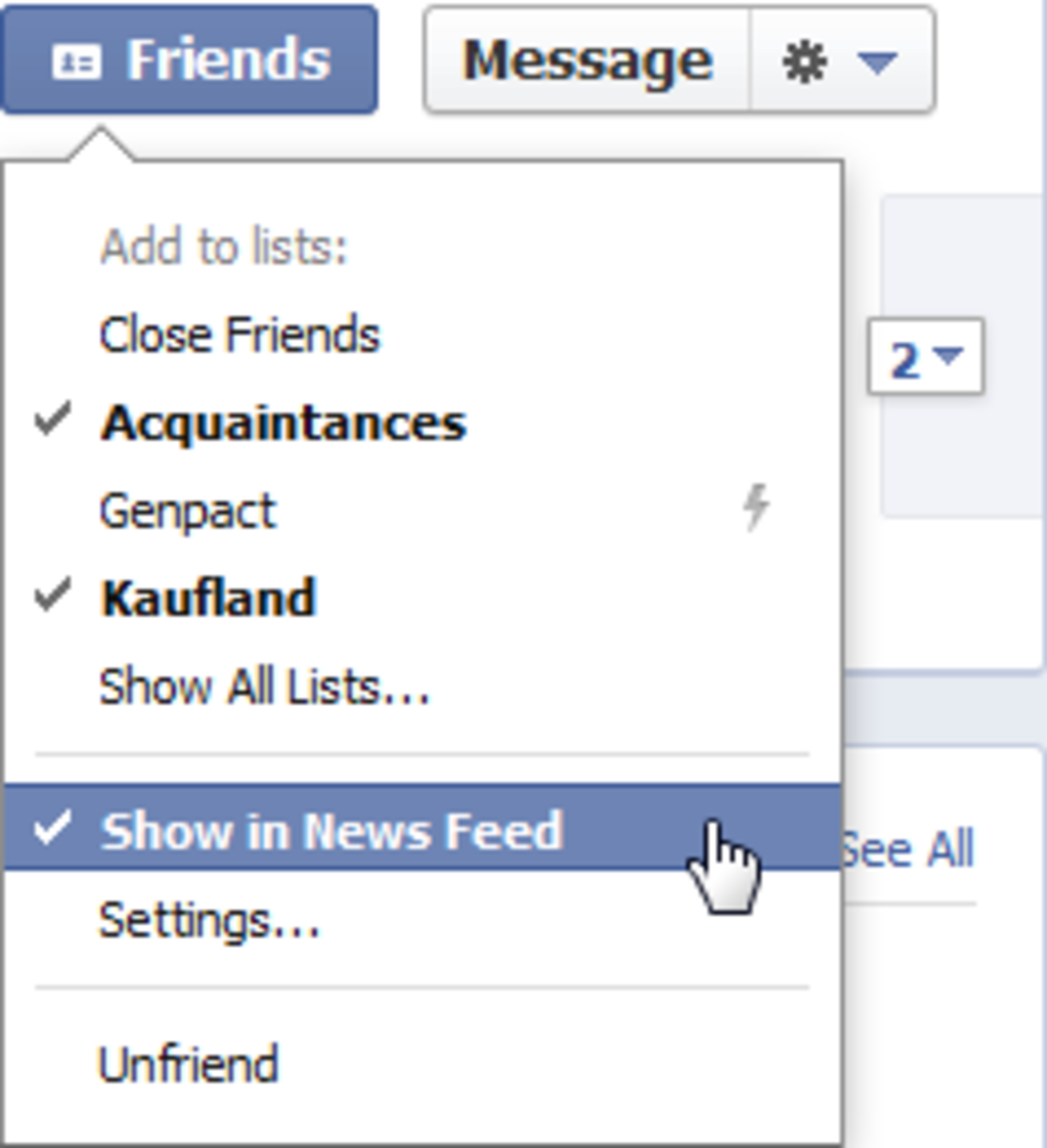 Hiding activities from annoying Facebook friends instead of deleting them is a win-win situation :)